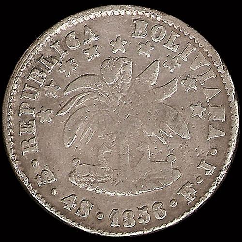 Sol De Oro S A RepÚblica Boliviana 4 Soles 1856 Rareza La Moneda Pesa 2 3 Gramos Menos Que El Peso Oficial Plata