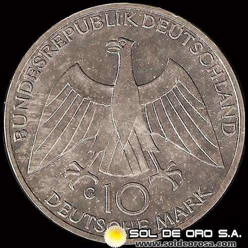NA1 - ALEMANIA - 10 MARK - 1972.f - Series: Munich Olympics - MONEDA DE PLATA