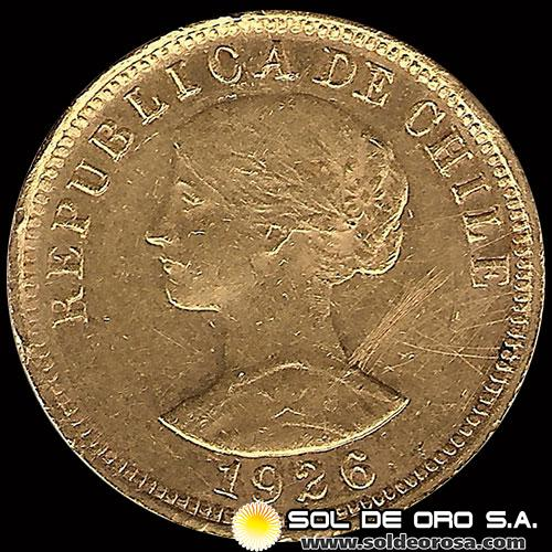 REPUBLICA DE CHILE - 50 PESOS - 1926 - MONEDA DE ORO