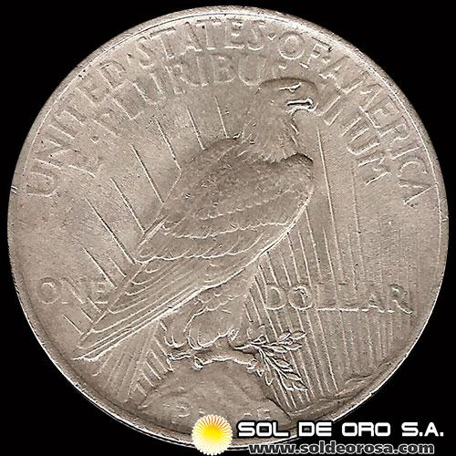 ESTADOS UNIDOS - 1 DOLLAR, 1924 - PEACE DOLLAR - UNITED STATES - MONEDA DE PLATA
