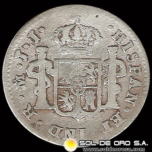 NA4 - MEXICO - 1/2 REAL, 1819 - MONEDA DE PLATA