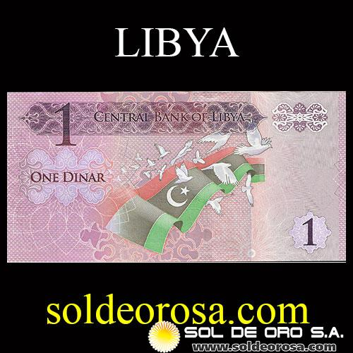 CENTRAL BANK OF LIBYA - ONE DINAR