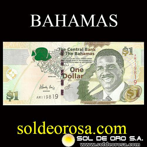 THE CENTRAL BANK OF THE BAHAMAS - ONE DOLLAR, 2008