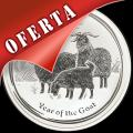 AUSTRALIA - YEAR OF THE GOAT - 10 DOLLARS - ELIZABETH II - 2015 - MONEDA DE PLATA
