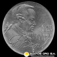 NA1 - ALEMANIA - 5 MARK - 1974 - Subject: 250th Anniversary - Birth of Immanuel Kant - MONEDA DE PLATA
