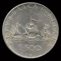 NA3 - REPUBLICA ITALIANA - 500 LIRE - 1958 - MONEDA DE PLATA
