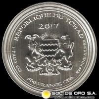 REPUBLIC OF CHAD - 500 CENTRAL AFRICAN FRANCS (CFA), 2017 - MONEDA DE PLATA