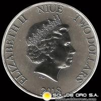 NIUE - MICKEY (DISNEY) - TWO DOLLAR - ELIZABETH II - 2018 - MONEDA DE PLATA
