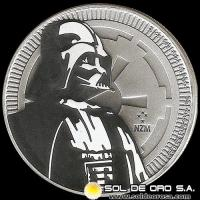 NIUE - STAR WARS (LUCASFILM LTD.) - TWO DOLLAR - ELIZABETH II - 2017 - MONEDA DE PLATA