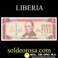 REPUBLIC OF LIBERIA - (5) FIVE DOLLARS, 2016