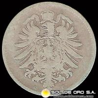 ALEMANIA - GERMAN EMPIRE - 1 MARK, 1875 C - MONEDA DE PLATA