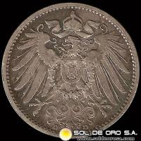 ALEMANIA - GERMAN EMPIRE - 1 MARK, 1901 D - MONEDA DE PLATA