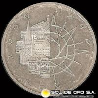 NA1 - ALEMANIA - 10 MARK - 1989.d - Subject: 2000th Anniversary - City of Bonn - MONEDA DE PLATA