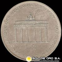ALEMANIA - 10 MARK - AÑO 1991 a - Subject: German Unity - MONEDA DE PLATA