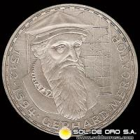 NA1 - ALEMANIA - 5 MARK - 1969 - Subject: 375th Anniversary - Death of Gerhard Mercator - MONEDA DE PLATA