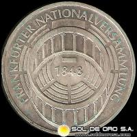 ALEMANIA - 5 MARK - AÑO 1973 g - Subject: 125th Anniversary - Frankfurt Parliament - MONEDA DE PLATA