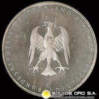 NA1 - ALEMANIA - 5 MARK - 1977 - Subject: 200th Anniversary - Birth of Heinrich von Kleist - MONEDA DE PLATA