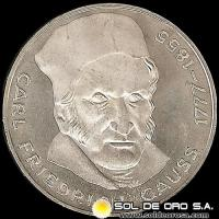 ALEMANIA - 5 MARK - AÑO 1977 j - Subject: 200th Anniversary - Birth of Carl Friedrich Gauss - MONEDA DE PLATA