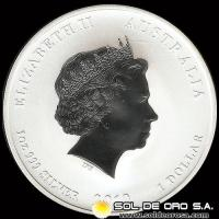 AUSTRALIA -1 DOLLAR – AÑO 2010 - ELIZABETH II - YEAR OF THE TIGER - MONEDA DE PLATA