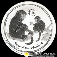 AUSTRALIA - YEAR OF THE MONKEY - 50 CNTS DOLLAR - ELIZABETH II - 2016 - MONEDA DE PLATA