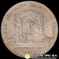 AUSTRIA - 100 SCHILLING, 1975 (Subject: 150th Anniversary - Birth of Johann Strauss the Younger, Composer) - MONEDA DE PLATA