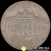 AUSTRIA - 100 SCHILLING, 1976 (Subject: 200th Anniversary - Burgthaeter) - MONEDA DE PLATA