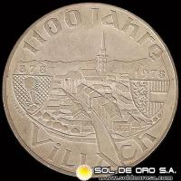 AUSTRIA - 100 SCHILLING, 1978 (Subject: 1.100th Anniversary - Founding of Villach) - MONEDA DE PLATA