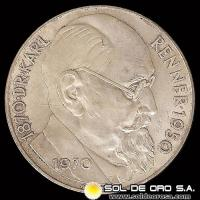 AUSTRIA - 50 SCHILLING, 1970 (Subject: 100th Anniversary - Birth of Dr. Karl Renner, president) - MONEDA DE PLATA