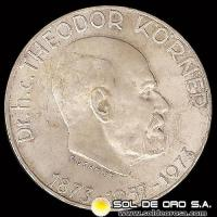 NA1 - AUSTRIA - 50 SCHILLING, 1973 (Subject: 100th Anniversary - Birth of Dr. Theodor Korner, President) MONEDA DE PLATA