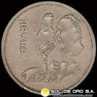 REPUBLICA FEDERATIVA DEL BRASIL - 20 CRUZEIROS - 1972 - Subject: 150th Anniversary of Independence - MONEDA DE PLATA
