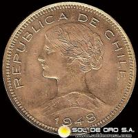 REPUBLICA DE CHILE - 100 PESOS - 1948 - MONEDA DE ORO