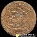 REPUBLICA DE CHILE - 100 PESOS - 1947 - MONEDA DE ORO