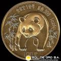 CHINA - PANDA 1 oz., 100 YUAN – AÑO 1986 - MONEDA DE ORO 24 K (999)