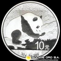 NCM - CHINA - 10 YUANES - PANDA - 2016 - MONEDA DE PLATA