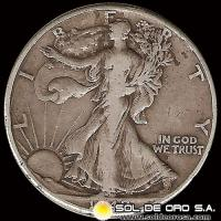 ESTADOS UNIDOS - UNITED STATES - WALKING LIBERTY HALF DOLLAR, 1942 - MONEDA DE PLATA