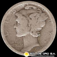 ESTADOS UNIDOS - UNITED STATES - MERCURY DIME DOLLAR, 1920 - MONEDA DE PLATA