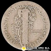 ESTADOS UNIDOS - UNITED STATES - MERCURY DIME DOLLAR, 1923 - MONEDA DE PLATA