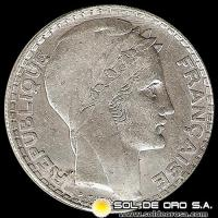 REPUBLIQUE FRANCAISE - 20 FRANCS - MONEDA DE PLATA