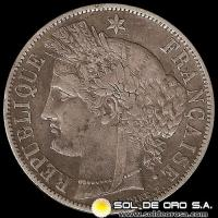 NA3 - REPUBLIQUE FRANCAISE - 5 FRANCS - 1870 A - MONEDA DE PLATA