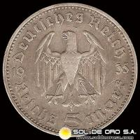 NA1 - GERMANY - THIRD REICH - 5 REICHSMARK, 1935 - MONEDA DE PLATA