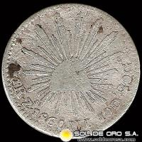 REP�BLICA DE M�XICO - 1 REAL, 1860 - Mint: Zacatecas - MONEDA DE PLATA