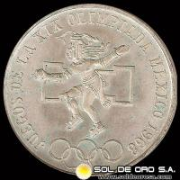 REPUBLICA DE MEXICO - 25 PESOS - 1968 - MONEDA DE PLATA