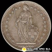 SUIZA - SWITZERLAND - 2 FRANCS - AÑO 1.937 - MONEDA DE PLATA
