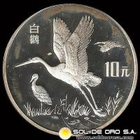 NCM - REPUBLICA POPULAR DE CHINA - 10 YUAN - 1992 - MONEDA DE PLATA