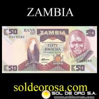BANK OF ZAMBIA - (50) FIFTY KWACHA