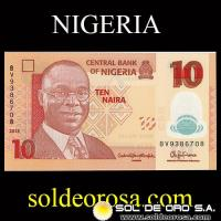 CENTRAL BANK OF NIGERIA - 10 NAIRA, 2015