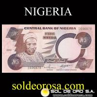 CENTRAL BANK OF NIGERIA - (5) FIVE NAIRA, 2002