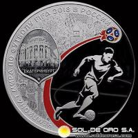 53 - RUSIA - 3 ROUBLES, 2018 - 2018 FIFA WORLD CUP RUSSIA - MONEDA DE ORO