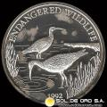 SAMOA I SISIFO - 10 DOLLAR - AÑO 1992 - ENDANGERED WORLD WILDLIFE - MONEDA DE PLATA