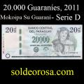 Billetes 2011 4- 20.000 Guaraníes